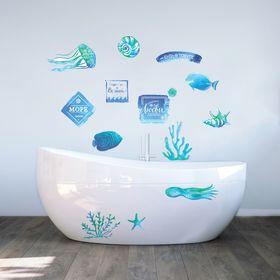 """Наклейки декоративные для ванной """"Мое море"""", 50 х 70 см"""