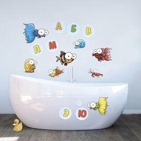 """Наклейки декоративные для ванной """"Алфавит"""", 50 х 70 см"""