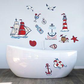 "Наклейки декоративные для ванной ""Жажда приключений"", 50 х 70 см"