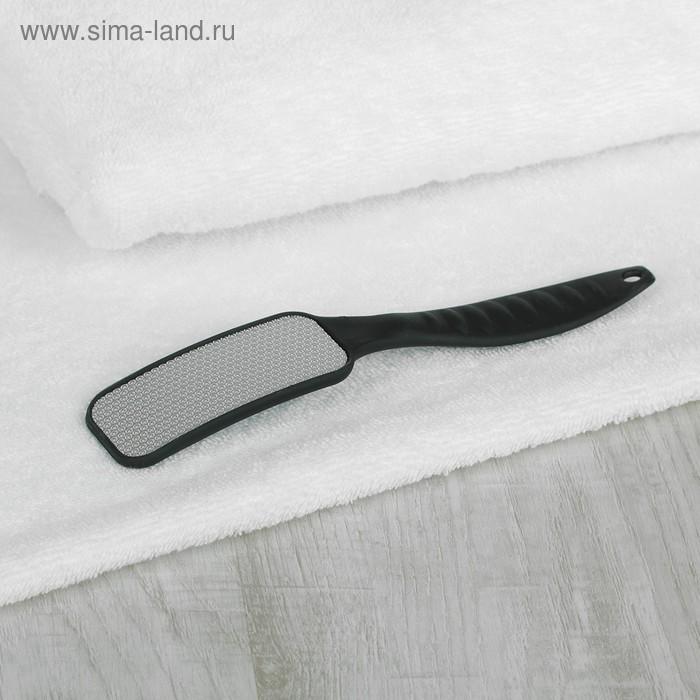 Тёрка для ног, лазерная, цвет чёрный