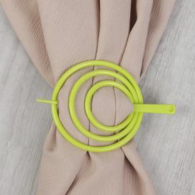 Заколка декоративная для штор, цвет салатовый Ош