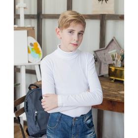Водолазка для мальчика, рост 98-104 см, цвет белый М-162 Ош