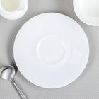 Блюдце d=14 см «Паула», цвет белый