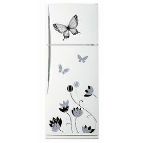 """Декоративная цветная наклейка на холодильник из винила """"Бабочки и цветы"""""""