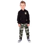 """Куртка для мальчика""""Патруль"""", рост 104 см (54), цвет чёрный (арт. ПДД457258)"""