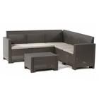 Комплект садовой мебели диван угловой+стол (ротанг) Set CORNER Nebraska, цвет венге