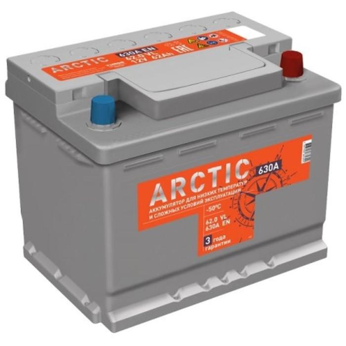 Аккумуляторная батарея Titan Arctic Silver 62 Ач, обратная полярность