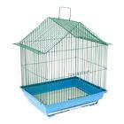 Клетка для птиц малая, крыша-домик , 35 х 28 х 43 см