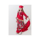"Карнавальный костюм ""Цыганка"", бандана, кофта, юбка, шаль, 5-7 лет, рост 122-134 см"