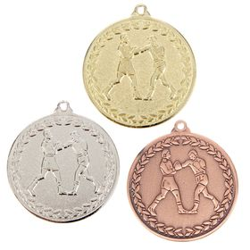 Медаль тематическая 057 'Бокс' бронза Ош