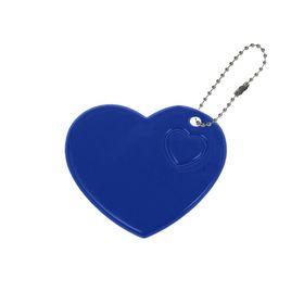 Светоотражающий элемент 'Сердце', 5*5,5см , цвет синий Ош