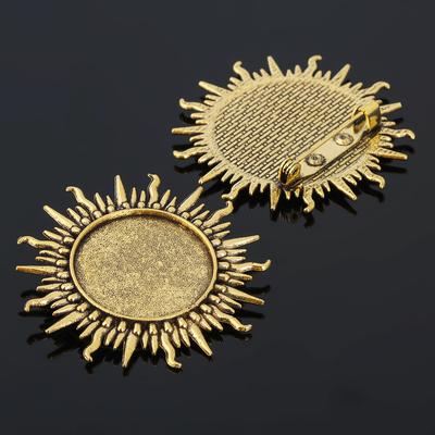 Основа для броши (набор 2шт), площадка 25мм, Х055, цвет черненое золото