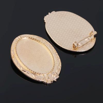 Основа для броши (набор 2шт), площадка 20*30мм, Х059, цвет золото
