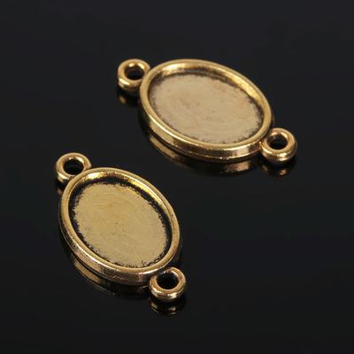 Коннектор (набор 4шт) площадка 10*14мм, JC-651, цвет черненое золото