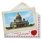 """Магнит в форме конверта """"Санкт-Петербург"""""""