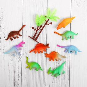 """Растущие животные """"Динозавры"""", набор 10шт + дерево"""