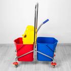 Тележки для уборки и сервиса, ведра, отжим