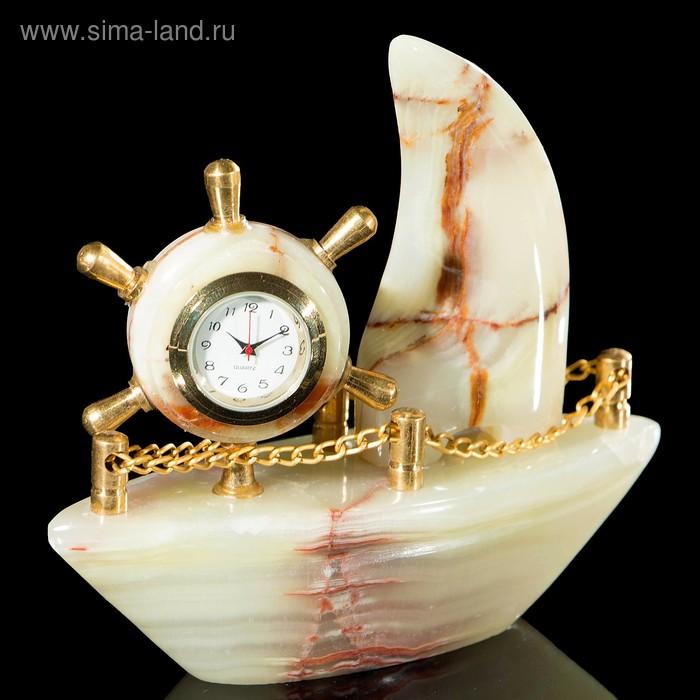 """Часы """"Корабль"""", оникс"""