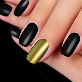Втирка для ногтей 'Зеркальный блеск', с блёстками, с аппликатором, цвет золотой Ош