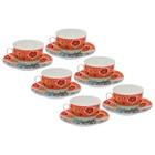 """Набор чайный """"Фьюжн"""", 12 предметов: 6 чашек 225 мл, 6 блюдец 15 см"""