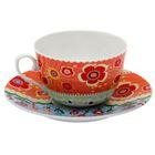 """Чайная пара """"Фьюжн"""": чашка 225 мл, блюдце d=15 см"""