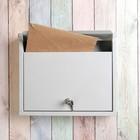 """Ящик почтовый горизонтальный, с замком, """"Альянс - уличный"""", цвет серый"""