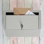 """Ящик почтовый горизонтальный, с замком, """"Эталон"""", серый"""