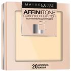 Выравнивающая компактная пудра Maybelline Affinitone 24h, тон 20, натурально-бежевый, 9 г