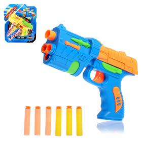 """Пистолет """"Фом"""", стреляет мягкими пулями, цвета МИКС"""