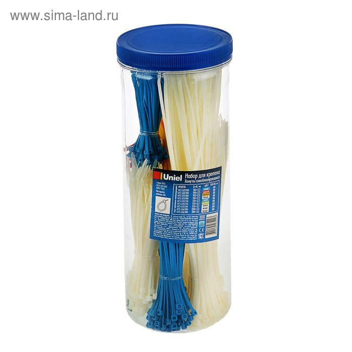 Набор для крепежа Uniel UCA-S03 MIX 1000 TUBE, хомуты нейлоновые, 5 цветов