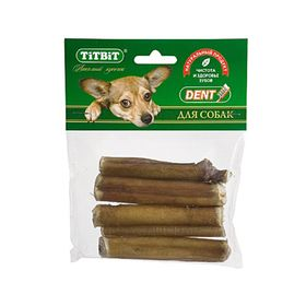 Лакомство для собак TitBit корень бычий резаный, мягкая упаковка