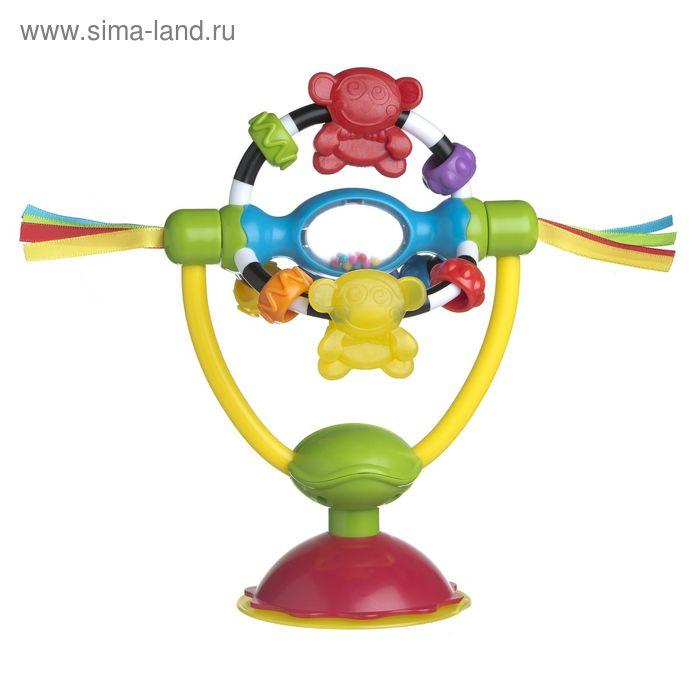 Игрушка-погремушка развивающая на присоске