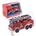 Пожарная машина с водой, свет, звук, 15 см