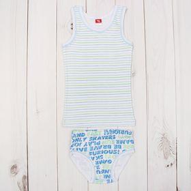 Комплект для мальчика (майка, трусы), рост 92 см (52), цвет синий (арт. CAK 3332_М)