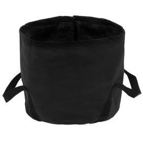 Мешок-горшок, 15 л, с ручками, чёрный, 26 х 28 см