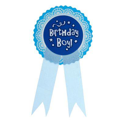 """Значок """"День рождение мальчика"""" голубой цвет"""