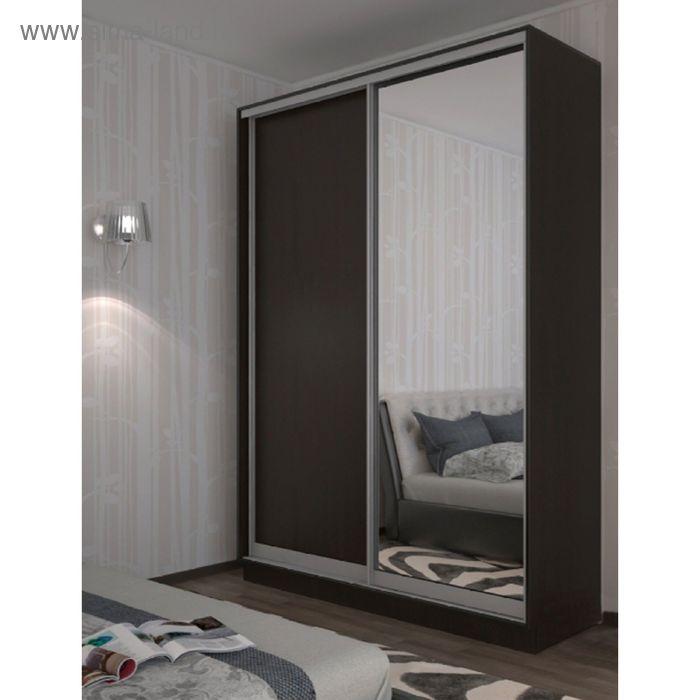Шкаф-купе 2 двери 1400х550х2200 Венге-зеркало