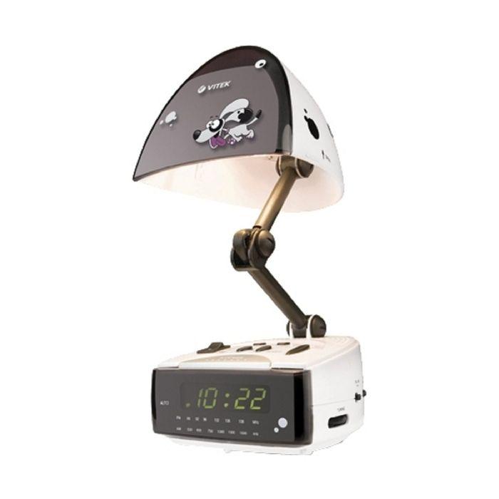 Радиоприемник с часами Vitek VT-3509, кварц, расш. FM, белый