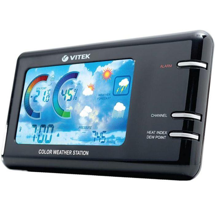 Часы Vitek VT-6401, многофункциональные, черный