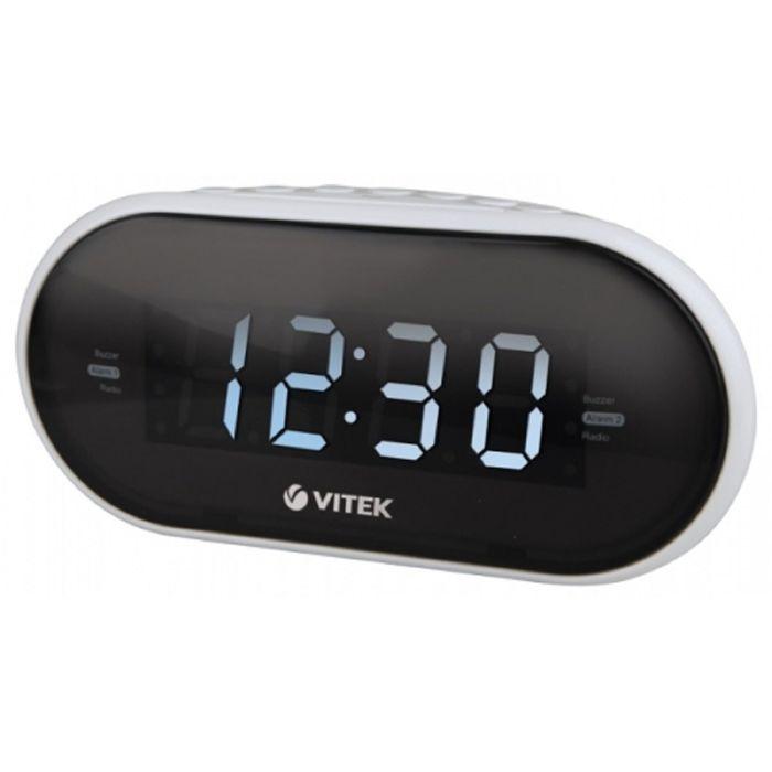 Радиоприемник с часами Vitek VT-6602, белый