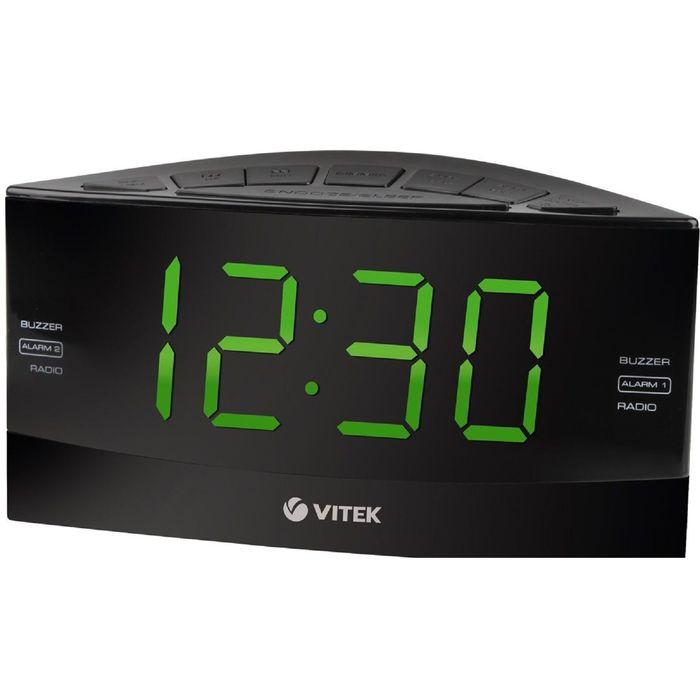 Радиоприемник с часами Vitek VT-6603, черный