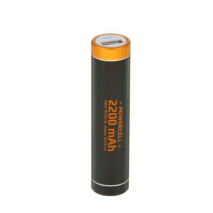 Внешний аккумулятор Qumo PowerAid PowerCell 2.2, литий-ионный, 2200 mAh, USB 1A, вход 0.5A