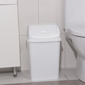 """Контейнер для мусора 18 л """"Камелия"""", цвет белый"""