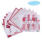 """Набор бумаги для скрапбукинга Me to you """"Это-моя любвоь"""", 12 листов, 15.5 x 15.5 см, 180 г/м²"""