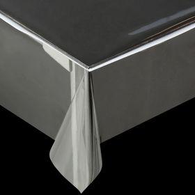 Клеенка ПВХ, ширина 137 см, толщина 0,13 мм, рулон 50 м, прозрачная