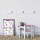 Набор интерьерных наклеек «Розовые сны», 21 х 29,5 см