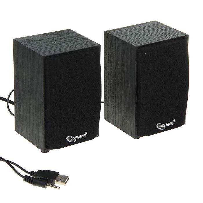 Акустическая система 2.0 Gembird SPK-201, 2х2.5Вт, USB, черные
