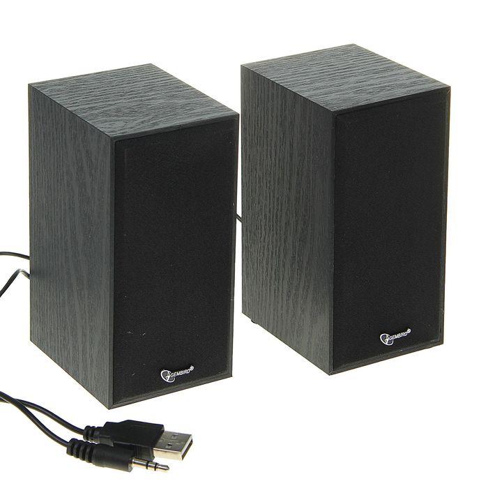 Акустическая система 2.0 Gembird SPK-203, 2х3Вт, USB, черные