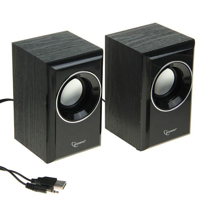 Акустическая система 2.0 Gembird SPK-204, 2х3Вт, USB, черные