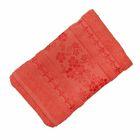 Полотенце махровое банное Fiesta Elara, размер 70х130 см, цвет оранжевый, 400 г/м2